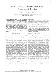 FSA: A Fast Coordination Scheme for Opportunistic Routing