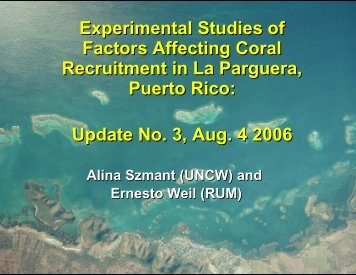Aug 2006 (PDF) - Caribbean Coral Reef Institute (CCRI)