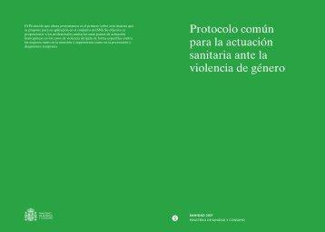 Protocolo común para la actuación sanitaria ante la violencia de ...