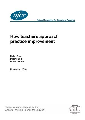 How teachers approach practice improvement - White Rose ...
