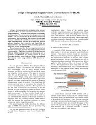 Design of Integrated Magnetoresistive Current Sensors for ... - CPES