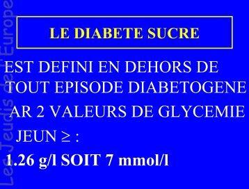 Le diabète de type 2 - Les Jeudis de l'Europe