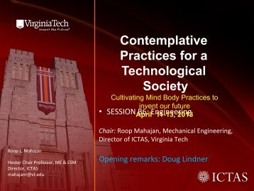 Contemplative Practices for a Technological Society - Institute for ...