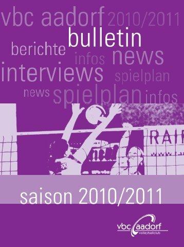 Bulletin_2010_11 [PDF, 3.00 MB] - VBC Aadorf