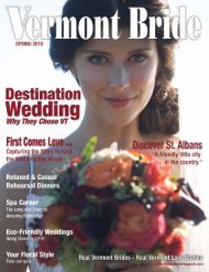 Download the Spring 2010 issue PDF - Vermont Bride