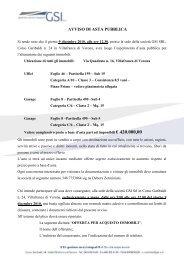 AVVISO DI ASTA PUBBLICA - GSI Gestione Servizi Integrati