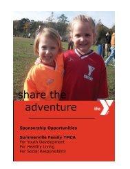 share the adventure - Summerville Family YMCA