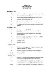 PSS-2013 EDITAL Nº 45/2012 CALENDÁRIO - Coperve