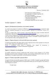 FEDERAZIONE ITALIANA SCHERMA Comitato Regionale Emilia ...