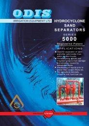 Hydrocyclone Sand Separators, Series 5000 - Netafim