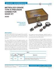 metrology-grade type n precision connector gage kit - Electro Rent ...