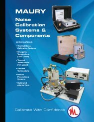 Noise Calibration Systems and Components - Maury Microwave