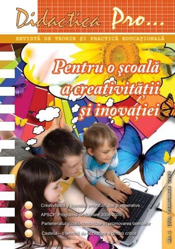 2009 – Anul European al Creativităţii şi Inovării - Pro Didactica