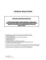 financial regulations - Lycée français de Singapour