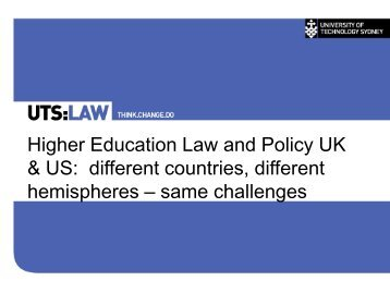 Higher Education Law and Policy UK & US: different countries ...