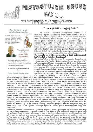 Nr 8-9 (45-46) Sierpień - Wrzesień 2010 - Parafia Ścięcia Św. Jana ...