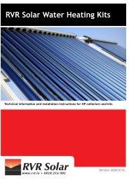 Installation Instructions – RVR Solar Water Heating Kits - RVR.ie