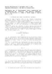 Decreto Ministeriale 5 settembre 2003, n.282 (Gazzetta Ufficiale n ...