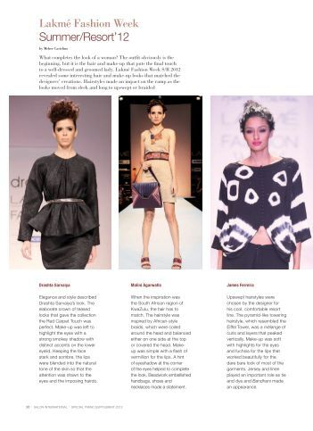 What completes the look of a woman - Lakmé Fashion Week