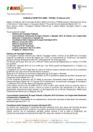 TEL. & FAX +39 0541 782371 - Associazione Italiana Master Scherma