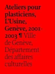 Cahier de L'Usine ok - Ville de Genève
