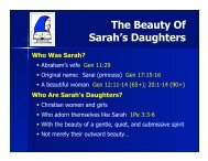 The Beauty Of Sarah's Daughters - Executable Outlines