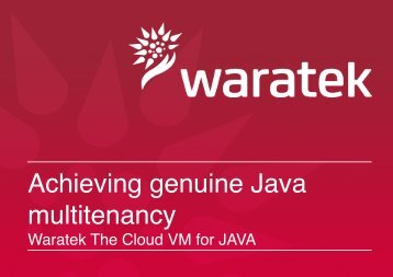Achieving genuine Java multitenancy