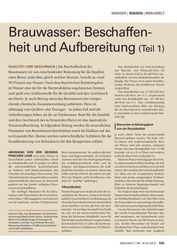 aus Brauwelt 18-19/2013 - Brau-Partner