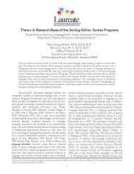 Theory & Research Bases of the Sterling Edition1 Syntax Programs ...