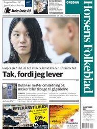 Læs også artikel i Horsens Folkeblad om Kasper og Lea ... - HSK