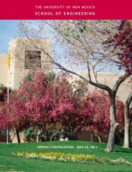 SCHOOL OF ENGINEERING - University of New Mexico