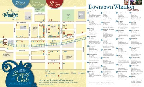 graphic relating to Printable Directory called Down load our Printable Listing - Downtown Wheaton Affiliation