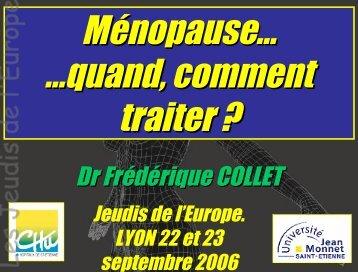 Ménopause en 2006 : quand et comment traiter - Les Jeudis de l ...