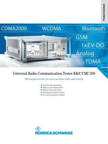 Universal Radio Communication Tester ¸CMU 200 - Linetest.ru