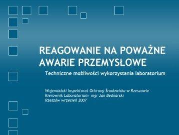 Jan Bednarski – Wojewódzki Inspektorat Ochrony Środowiska w ...