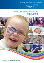 UHL Annual Report 2009-10 - Library - University Hospitals of ...