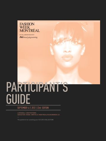 SEPTEMBER 4-7, 2012 | 23rd EDITION - Montreal fashion week