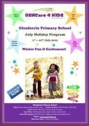 OSHCare 4 Kids July Holiday Program - Glenferrie Primary School