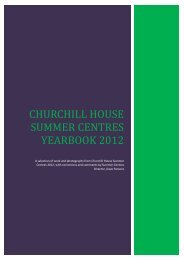 Churchill house summer centres yearbook 2012