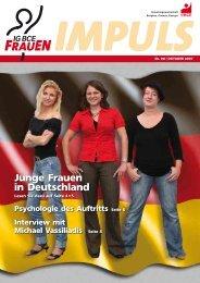 Junge Frauen in Deutschland - IG BCE Ortsgruppe Krefeld