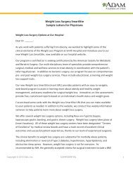 Weight Loss Surgery SmartSite Sample Letters for ... - Adam.com