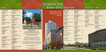 East Genesee Street Business District - University Hill Corporation