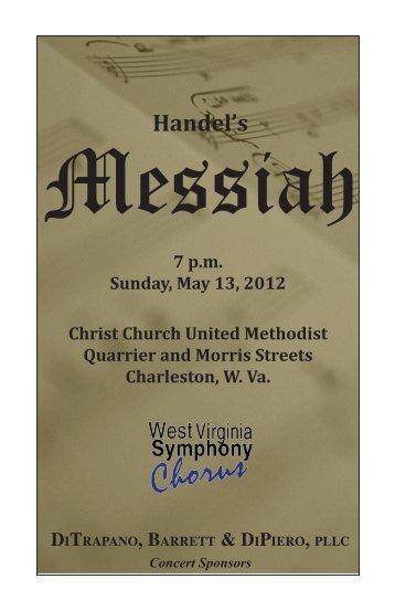 Messiah: May 13, 2012
