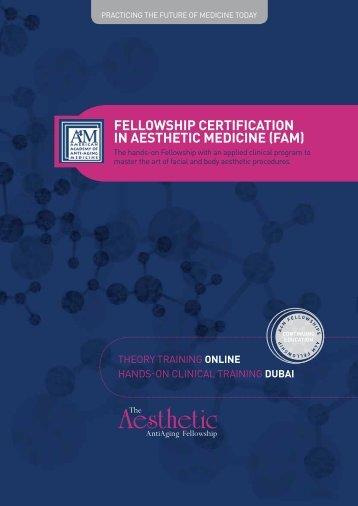 fellowship certification in aesthetic medicine (fam) - American ...