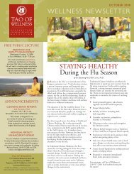 free public lecture - Tao of Wellness