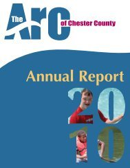 Annual Report 2010 - Arc of Chester County