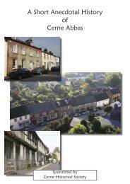 A Short Anecdotal History of Cerne Abbas - Cerne Abbas Historical ...