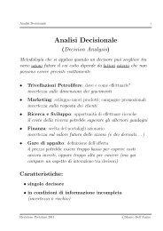 Analisi Decisionale