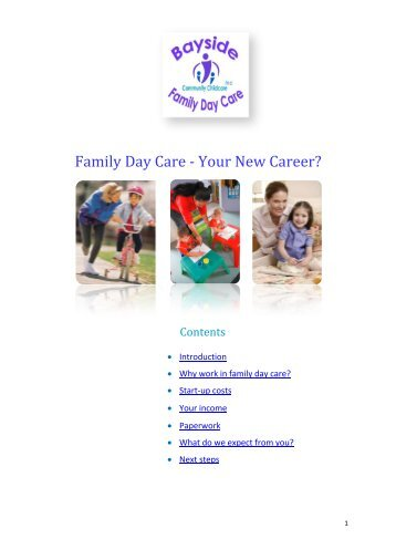Family Day Care - Your New Career? - Bayside Family Day Care