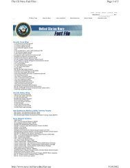 Page 1 of 3 The US Navy Fact Files 5/24/2012 http://www.navy.mil ...